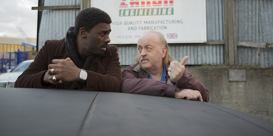In The Long Run. Image shows from L to R: Walter (Idris Elba), Bagpipes (Bill Bailey).
