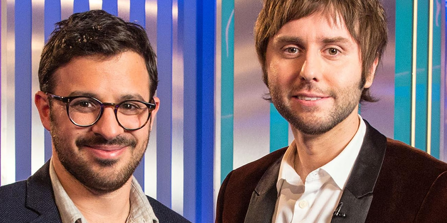 The Inbetweeners: Fwends Reunited. Image shows from L to R: Simon Bird, James Buckley.