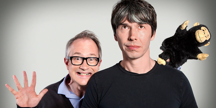 The Infinite Monkey Cage. Image shows from L to R: Robin Ince, Brian Cox.