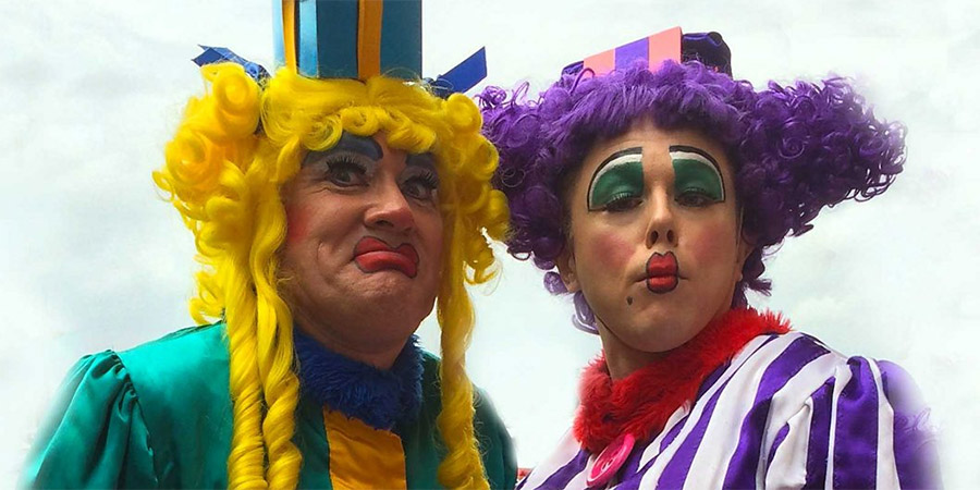 Two pantomime dames. Copyright: BBC.