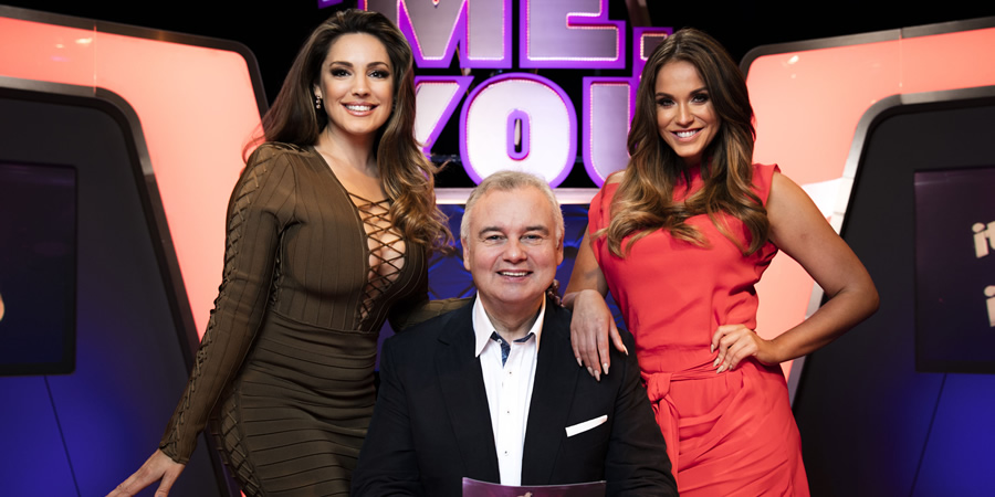 It's Not Me, It's You. Image shows from L to R: Kelly Brook, Eamonn Holmes, Vicky Pattison.