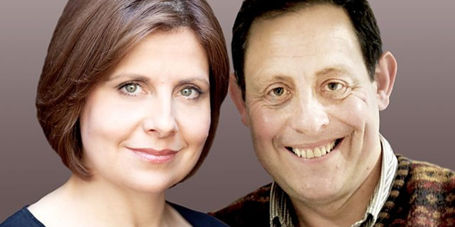 Jack & Millie. Image shows from L to R: Millie (Rebecca Front), Jack (Jeremy Front). Copyright: BBC.