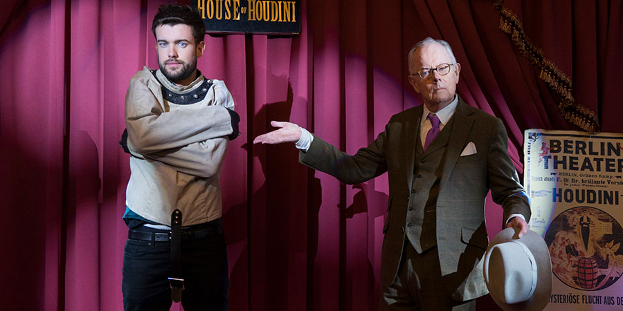 Jack Whitehall: Travels With My Father. Image shows from L to R: Jack Whitehall, Michael Whitehall. Copyright: Cave Bear Productions.