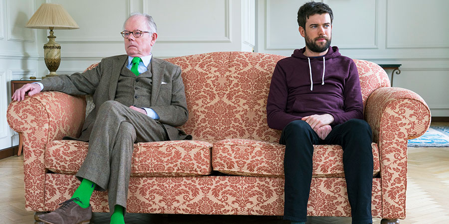Jack Whitehall: Travels With My Father. Image shows from L to R: Michael Whitehall, Jack Whitehall. Copyright: Cave Bear Productions.