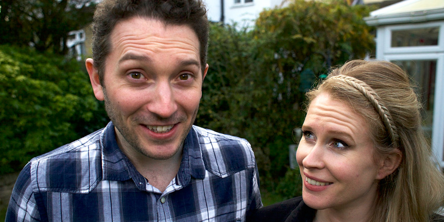 Jon Richardson: How To Survive The End Of The World. Image shows from L to R: Jon Richardson, Lucy Beaumont.