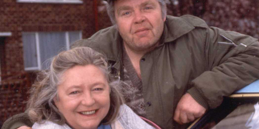 Keeping Up Appearances. Image shows from L to R: Daisy (Judy Cornwell), Onslow (Geoffrey Hughes). Copyright: BBC.