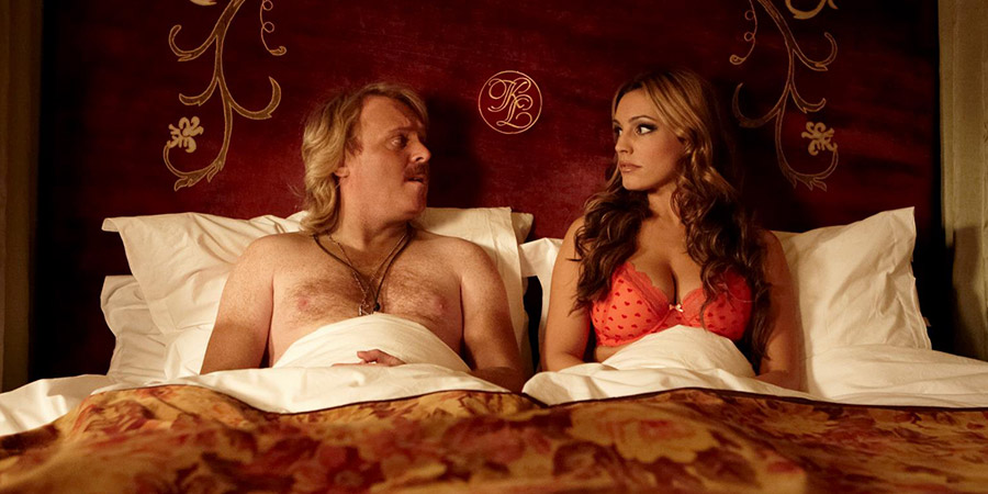 Keith Lemon: The Film. Image shows from L to R: Keith Lemon (Leigh Francis), Kelly Brook. Copyright: Generator Entertainment.