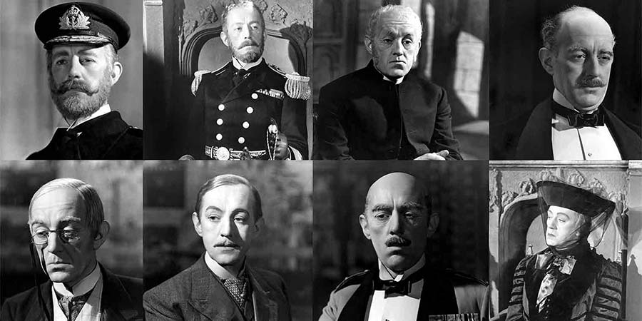 Alec Guinness as the D'Ascoynes. Copyright: Ealing Studios.