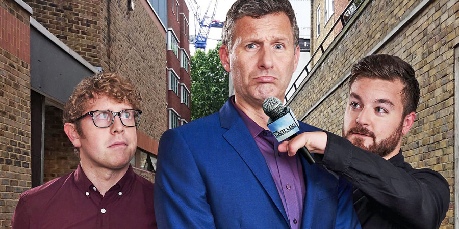 The Last Leg: Correspondents. Image shows from L to R: Josh Widdicombe, Adam Hills, Alex Brooker.