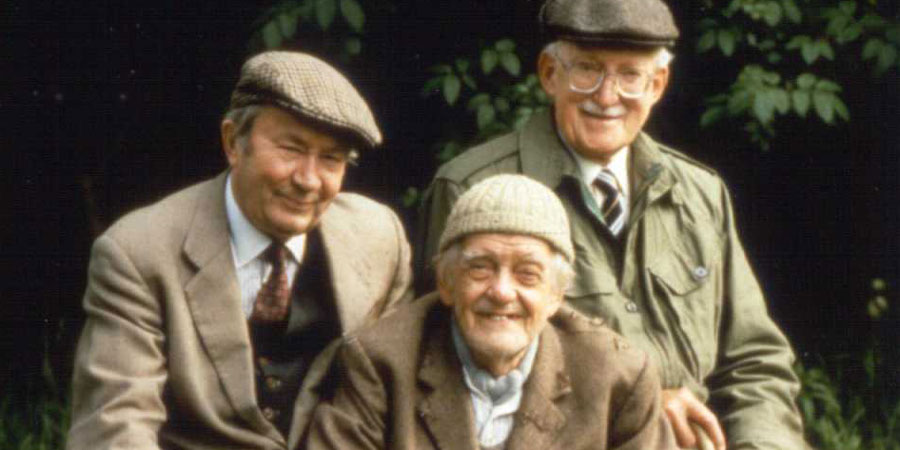 Last Of The Summer Wine. Image shows from L to R: Norman Clegg (Peter Sallis), William 'Compo' Simmonite (Bill Owen), Herbert 'Truly' Truelove (Frank Thornton). Copyright: BBC.