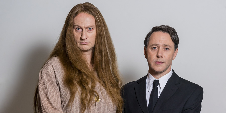 The League Of Gentlemen. Image shows from L to R: Auntie Val (Mark Gatiss), Benjamin (Reece Shearsmith). Copyright: BBC.