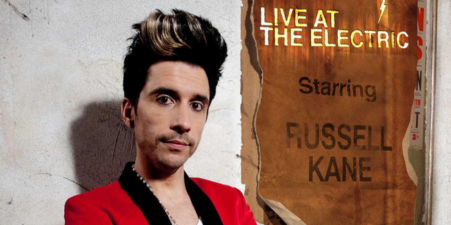 Live At The Electric. Russell Kane. Copyright: Avalon Television.