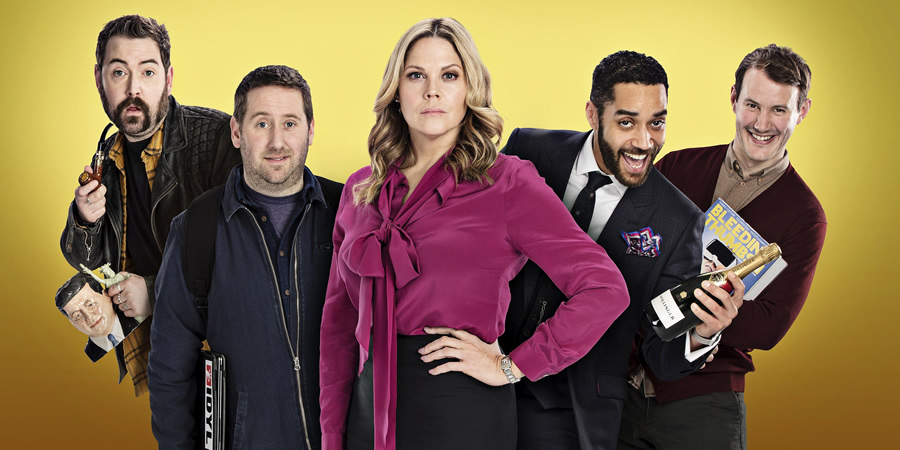 Loaded. Image shows from L to R: Watto (Nick Helm), Josh (Jim Howick), Casey (Mary McCormack), Leon (Samuel Anderson), Ewan (Jonny Sweet).