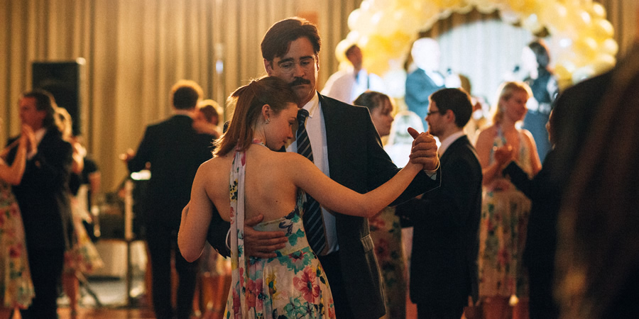 The Lobster. Image shows from L to R: Nosebleed Woman (Jessica Barden), David (Colin Farrell).