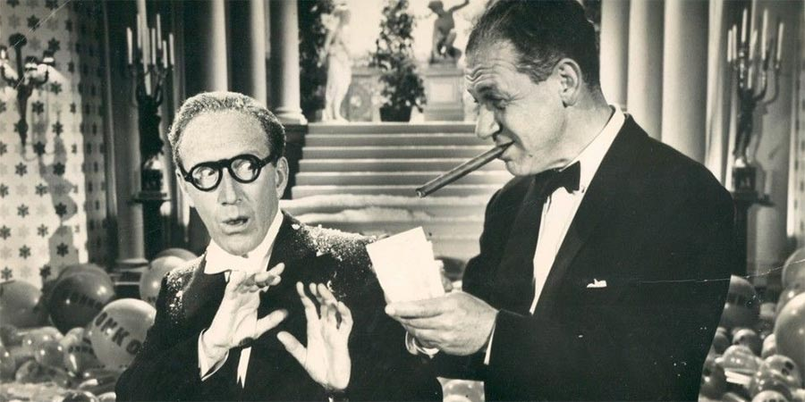 Make Mine A Million. Image shows from L to R: Arthur Ashton (Arthur Askey), Sid Gibson (Sid James).