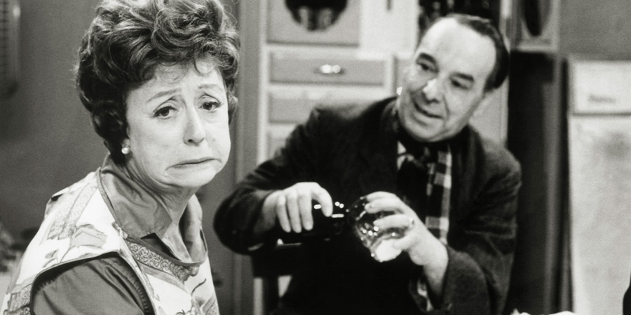 Meet The Wife. Image shows from L to R: Thora Blacklock (Thora Hird), Freddie Blacklock (Freddie Frinton). Copyright: BBC.
