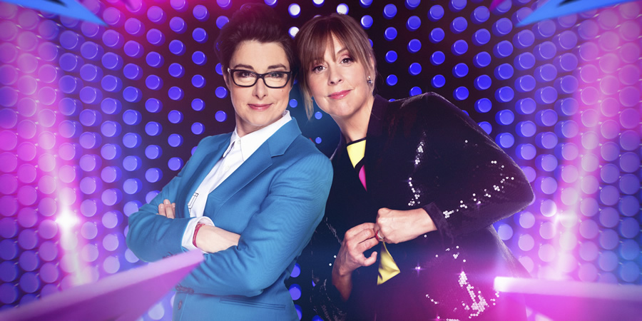 Mel & Sue - Let's Sing And Dance For Comic Relief. Image shows from L to R: Mel Giedroyc, Sue Perkins. Copyright: BBC.