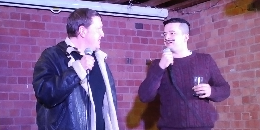 Image shows from L to R: Andrew McBurney, Jack Kirwan. Copyright: Midlands Comedy Awards.
