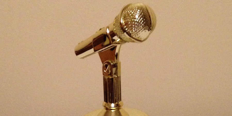 Midlands Comedy Awards trophy.