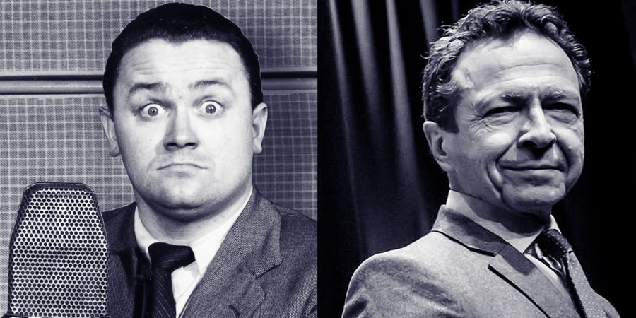 Image shows from L to R: Harry Secombe, Andrew Secombe.