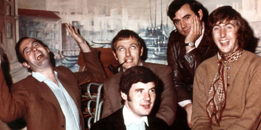 Monty Python's Flying Circus. Image shows from L to R: John Cleese, Graham Chapman, Michael Palin, Terry Jones, Eric Idle. Copyright: BBC.