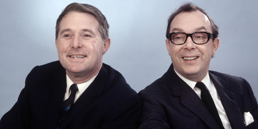 Miranda: Morecambe & Wise And Me. Image shows from L to R: Ernie Wise, Eric Morecambe. Copyright: ITV.
