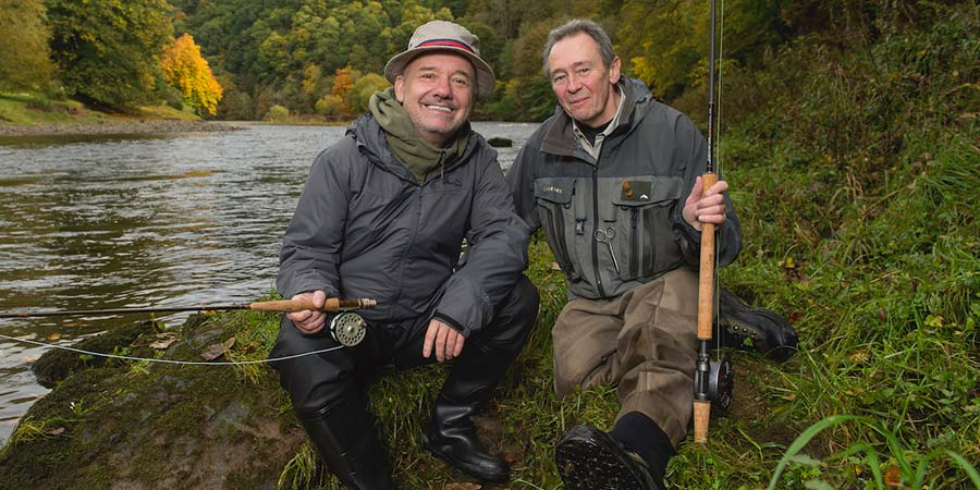 Mortimer & Whitehouse: Gone Fishing. Image shows from L to R: Bob Mortimer, Paul Whitehouse. Copyright: Owl Power.
