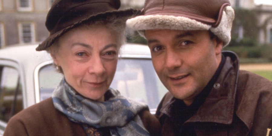 Mulberry. Image shows from L to R: Miss Farnaby (Geraldine McEwan), Mulberry (Karl Howman). Copyright: BBC.