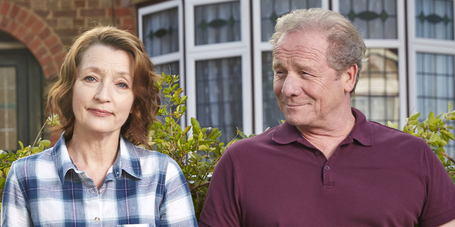 Mum. Image shows from L to R: Cathy (Lesley Manville), Michael (Peter Mullan).