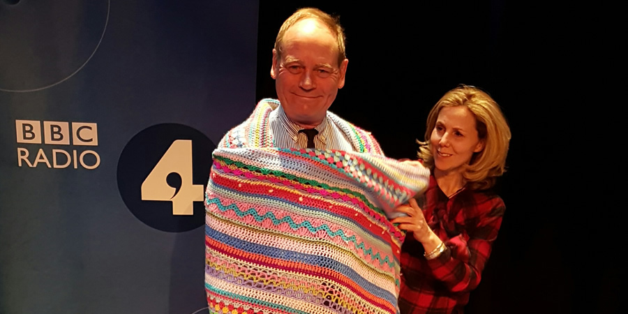 The Museum Of Curiosity. Image shows from L to R: John Lloyd, Sally Phillips. Copyright: BBC.