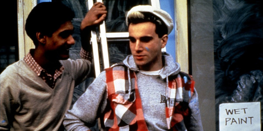 My Beautiful Laundrette. Image shows from L to R: Omar (Gordon Warnecke), Johnny (Daniel Day Lewis). Copyright: Film4.