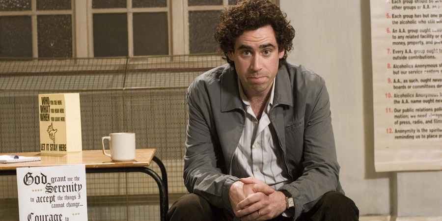 Never Better. Keith Merchant (Stephen Mangan). Copyright: World Productions.