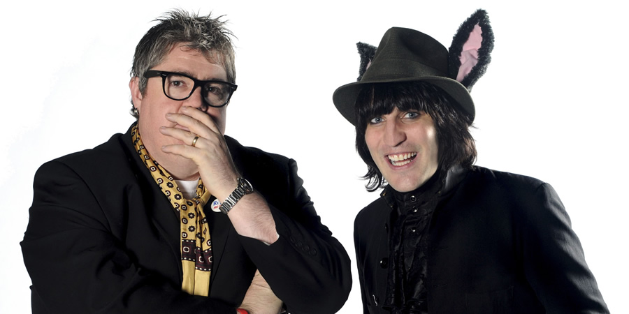 Never Mind The Buzzcocks. Image shows from L to R: Phill Jupitus, Noel Fielding.