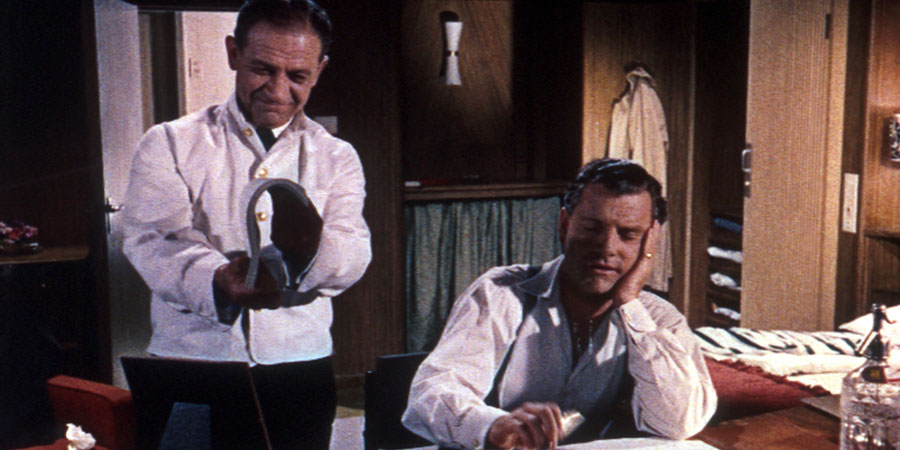 Next To No Time!. Image shows from L to R: Albert (Sid James), David Webb (Kenneth More).