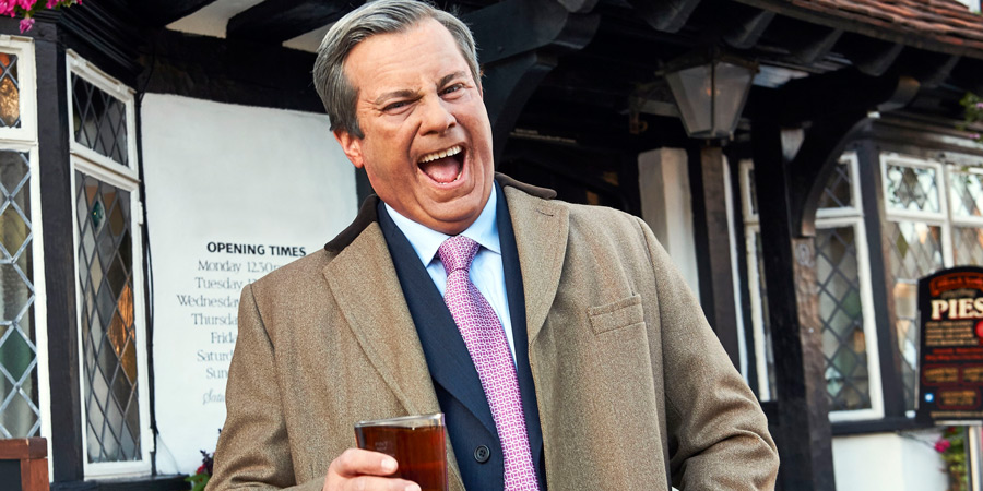 Nigel Farage Gets His Life Back. Nigel Farage (Kevin Bishop). Copyright: Zeppotron.