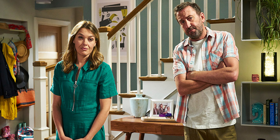 Not Going Out. Image shows from L to R: Lucy (Sally Bretton), Lee (Lee Mack). Copyright: Avalon Television.