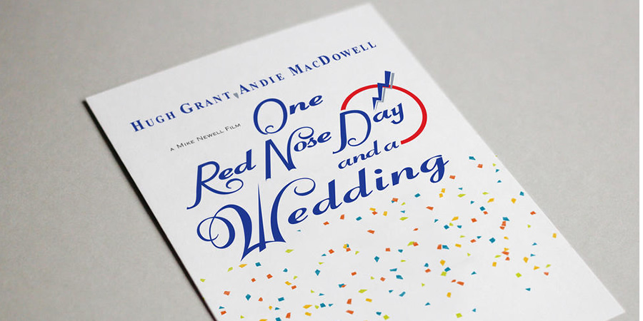 One Red Nose Day and a Wedding invite. Copyright: BBC.