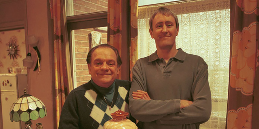 Only Fools And Horses. Image shows from L to R: Del (David Jason), Rodney (Nicholas Lyndhurst). Copyright: BBC.