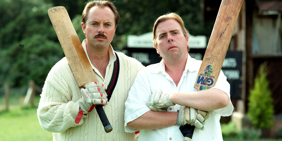 Outside Edge. Image shows from L to R: Roger Dervish (Robert Daws), Kevin Costello (Timothy Spall). Copyright: Central Independent Television.