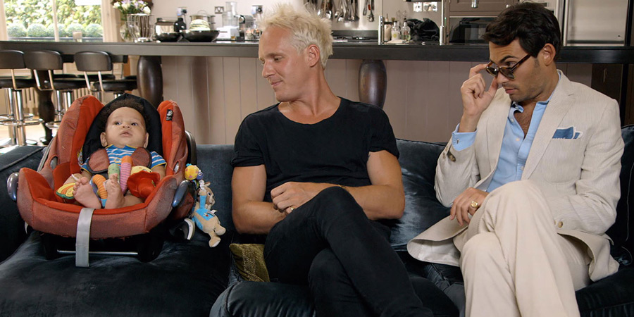 Parenting For Idiots. Image shows from L to R: Unknown, Jamie Laing, Mark-Francis Vandelli.