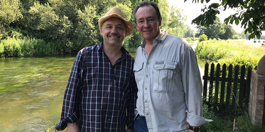 Paul And Bob Go Fishing. Image shows from L to R: Bob Mortimer, Paul Whitehouse. Copyright: Owl Power.