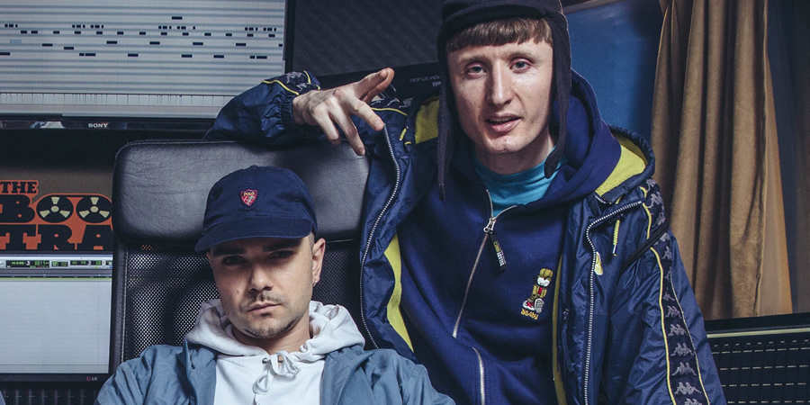 People Just Do Nothing. Image shows from L to R: Grindah (Allan Mustafa), Steves (Steve Stamp). Copyright: Roughcut Television.