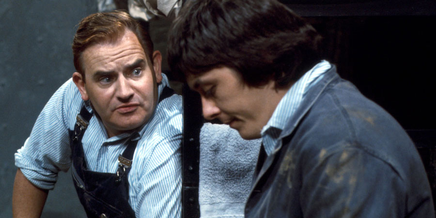 Porridge. Image shows from L to R: Fletcher (Ronnie Barker), Godber (Richard Beckinsale). Copyright: BBC.