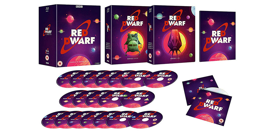 Red Dwarf - Complete Series I - VIII Blu-ray box set. Copyright: BBC.
