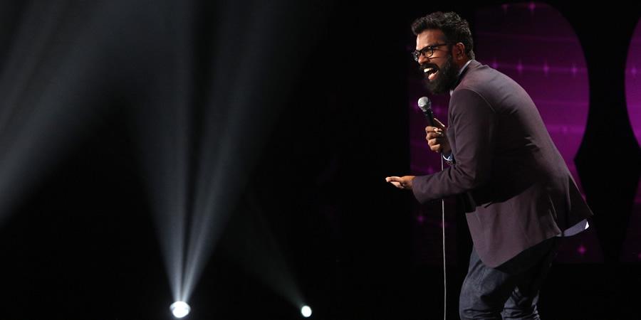 Romesh Ranganathan: Irrational Live. Romesh Ranganathan. Copyright: Open Mike Productions / Andy Hollingworth.