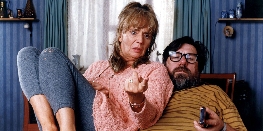 The Royle Family. Image shows from L to R: Barbara Royle (Sue Johnston), Jim Royle (Ricky Tomlinson).