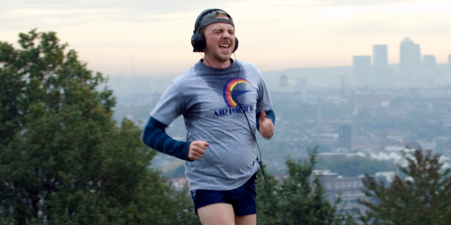Run Fatboy Run. Dennis Doyle (Simon Pegg). Copyright: Material Entertainment.