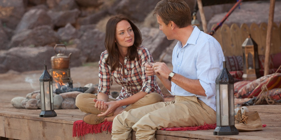 Salmon Fishing In The Yemen. Image shows from L to R: Harriet Chetwode-Talbot (Emily Blunt), Dr Alfred Jones (Ewan McGregor). Copyright: Kudos Productions.
