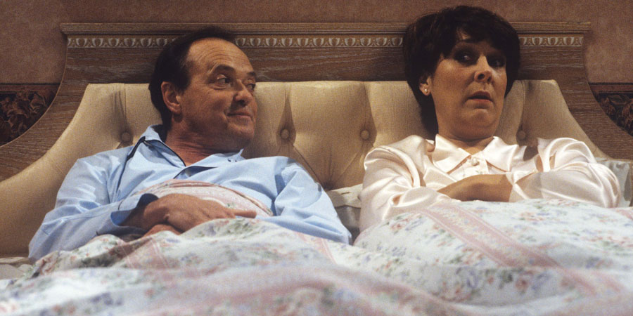 Second Thoughts. Image shows from L to R: Bill (James Bolam), Faith (Lynda Bellingham).