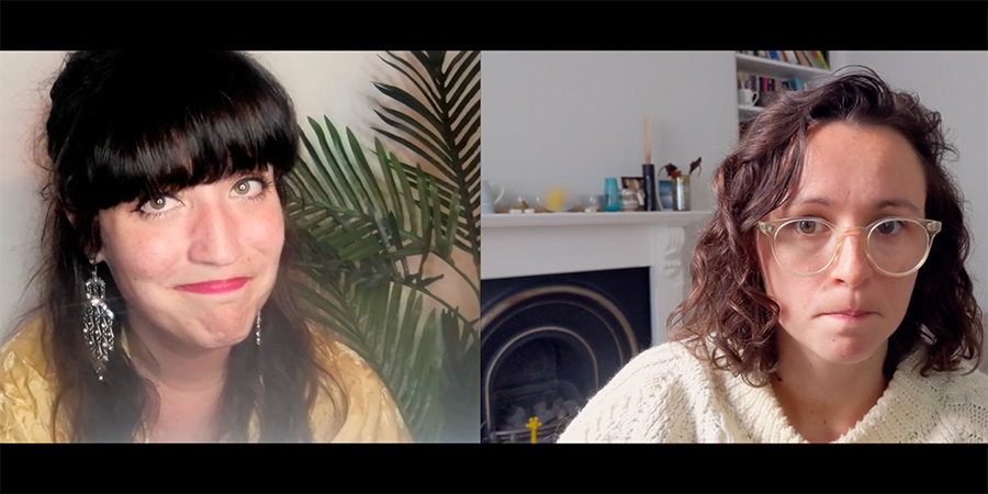 Self-Help. Image shows from L to R: Veronica Moses (Emma Richardson), Tricia Thornton (Sally Paffett).